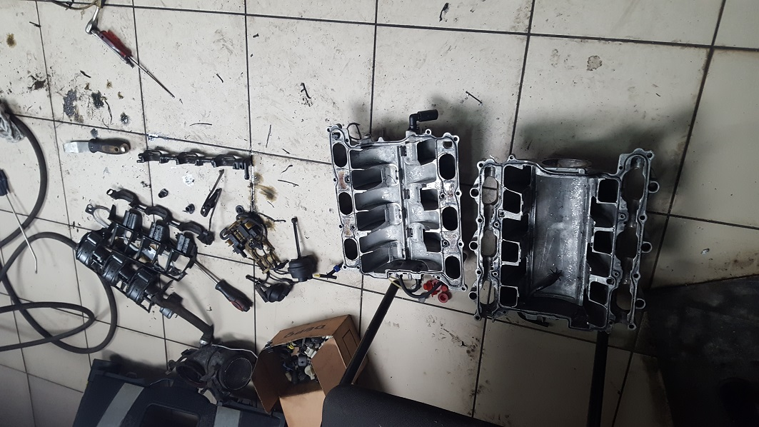 ремонт впускного коллектора мерседес